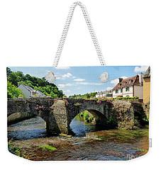 Old Bridge Over Elle River Quimperle, France Weekender Tote Bag