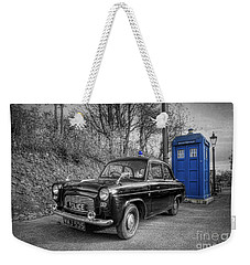Old British Police Car And Tardis Weekender Tote Bag