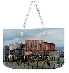 Old Building Astoria Oregon Weekender Tote Bag