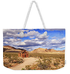 Weekender Tote Bag featuring the photograph Old Cabin At Rhyolite by James Eddy