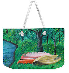 Old Canoes Weekender Tote Bag