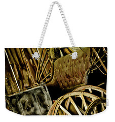 Weekender Tote Bag featuring the photograph Old Carriage by Joann Copeland-Paul