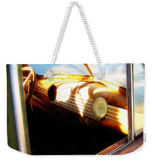 Weekender Tote Bag featuring the photograph Old Chevrolet Dashboard by Glenn McCarthy Art and Photography