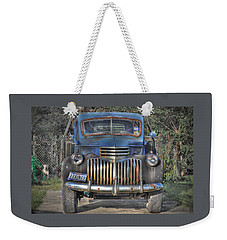 Weekender Tote Bag featuring the photograph Old Chevy Truck by Savannah Gibbs