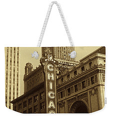 Old Chicago Theater - Vintage Photo Art Print Weekender Tote Bag