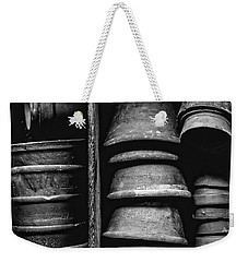 Weekender Tote Bag featuring the photograph Old Clay Pots by Edward Fielding
