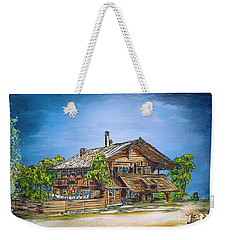 Weekender Tote Bag featuring the painting Old Cottage by Andrzej Szczerski