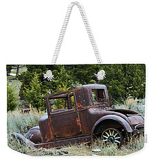 Old Coupe In Bad Condition Weekender Tote Bag