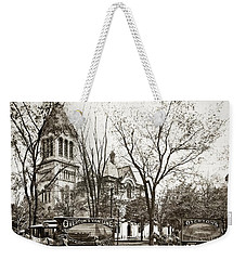Old Courthouse Public Square Wilkes Barre Pa Late 1800s Weekender Tote Bag