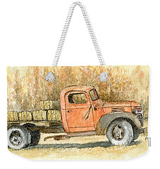 Old Dodge Truck In Autumn Weekender Tote Bag