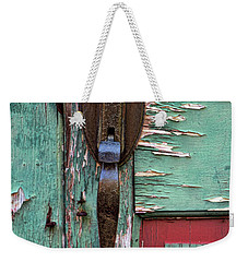 Weekender Tote Bag featuring the photograph Old Door Knob 2 by Joanne Coyle