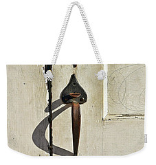 Weekender Tote Bag featuring the photograph Old Door Knob 3 by Joanne Coyle