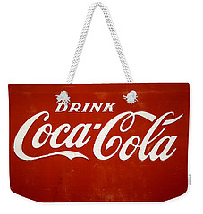Weekender Tote Bag featuring the photograph Old Drink Coca-cola Sign by Marilyn Hunt
