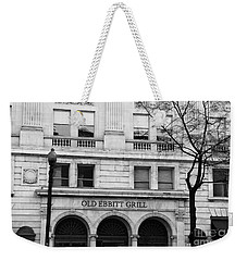 Old Ebbitt Grill Facade Black And White Weekender Tote Bag