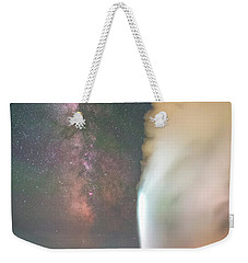 Old Faithful Erupts At Night Weekender Tote Bag