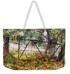 Old Farm Gate Weekender Tote Bag