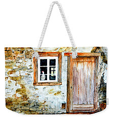 Weekender Tote Bag featuring the painting Old Farm House by Sher Nasser