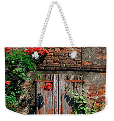 Weekender Tote Bag featuring the photograph Old Farm Window by Frank Stallone