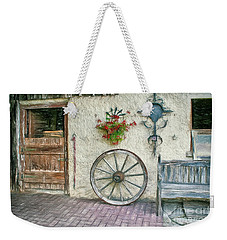 Weekender Tote Bag featuring the photograph Old Farmhouse by Jutta Maria Pusl