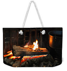 Old Fashioned Fireplace Weekender Tote Bag