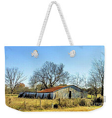 Weekender Tote Bag featuring the photograph Old Forgotten Barn Near Paris Texas by Janette Boyd