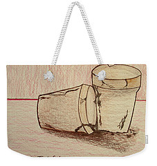 Weekender Tote Bag featuring the drawing Old Friends   Bill Oconnor by Bill OConnor