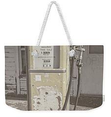 Old Gas Pump Weekender Tote Bag by Robert Bales