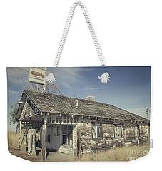 Old Gas Station Weekender Tote Bag by Robert Bales