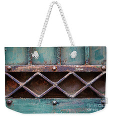 Weekender Tote Bag featuring the photograph Old Gate Geometric Detail by Elena Elisseeva