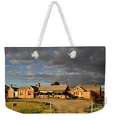 Weekender Tote Bag featuring the photograph Old Ghan Railway Restaurant by Douglas Barnard