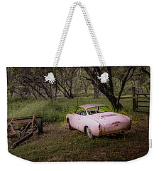 Weekender Tote Bag featuring the photograph old 'gia Oroville 5908 by Janis Knight