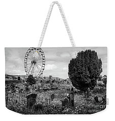 Old Glenarm Cemetery And Big Wheel Bw Weekender Tote Bag by RicardMN Photography