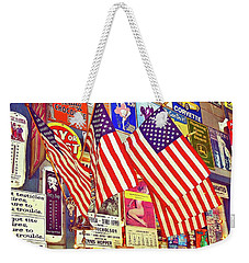 Weekender Tote Bag featuring the photograph Old Glory by Joan Reese