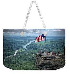 Old Glory On The Rock Weekender Tote Bag