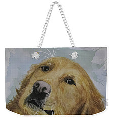 Old Golden Retriver Weekender Tote Bag by Annie Poitras