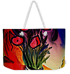 Weekender Tote Bag featuring the painting Old Gray Pot by Bill OConnor