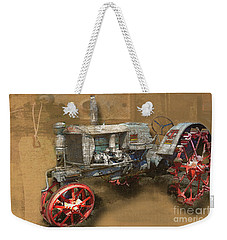 Old Grey Tractor Weekender Tote Bag