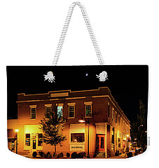 Old Hotel Moonlight Weekender Tote Bag by Dale R Carlson