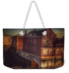 Weekender Tote Bag featuring the photograph Old House On The Corner by Miriam Danar