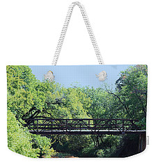 Weekender Tote Bag featuring the photograph Old Iron Bridge Over Caddo Creek by Sheila Brown