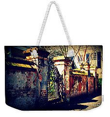 Old Iron Gate In Charleston Sc Weekender Tote Bag