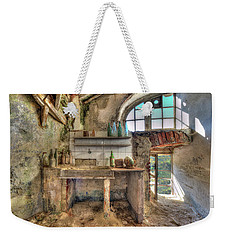 Weekender Tote Bag featuring the photograph Old Kitchen - Vecchia Cucina by Enrico Pelos