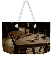 Old Kitchen Table Weekender Tote Bag