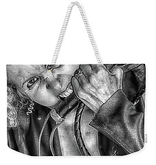 Weekender Tote Bag featuring the photograph Old Leather  by Jacob Smith