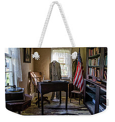 Weekender Tote Bag featuring the photograph Old Library by Ann Bridges
