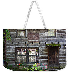 Old Log Building Weekender Tote Bag