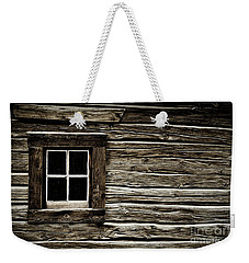 Weekender Tote Bag featuring the photograph Old Log Cabin by Brad Allen Fine Art