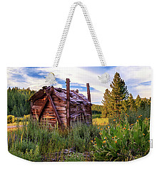 Old Lumber Mill Cabin Weekender Tote Bag