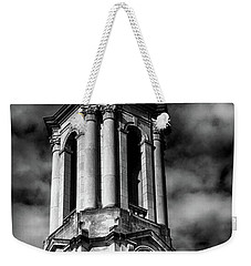 Old Main Black And White Weekender Tote Bag
