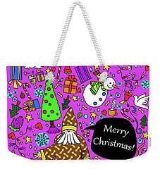 Old Man In The Peanut Merry Christmas Weekender Tote Bag